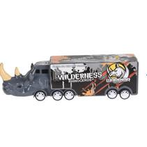 vrachtwagen neushoorn jongens 16 cm grijs