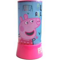 nachtlamp Peppa Pig led junior 20 cm blauw/roze
