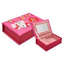 sieradendoosje meisjes fluweel 10 x 15 cm roze