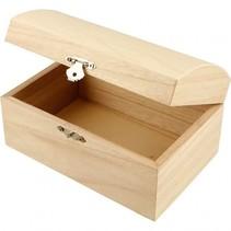 schatkist hout 16,5 x 11 x 8,5 cm