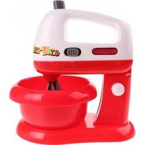 mixer met verlichting 17 cm wit/rood