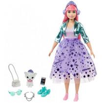 tienerpop Princess Adventure meisjes 30 cm paars 7-delig