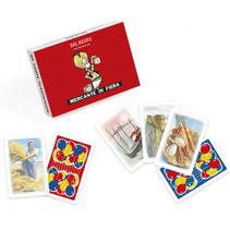 kaartspel Mercante in Fiera 6,6 cm karton rood 40 stuks
