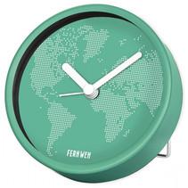 reiswekker Time to Travel junior 9 cm groen