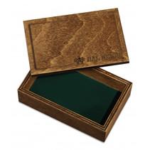 speelkaarthouder 13,5 x 8,5 cm hout bruin