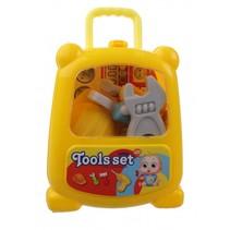 gereedschap in koffer geel 11-delig