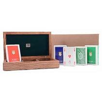 pokerbox 18 x 11 cm hout bruin 361-delig