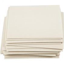 sponsdoek 17 x 19,5 cm cellulose/katoen wit 20 stuks