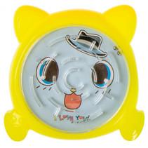 behendigheidsspel doolhof junior 7,5 cm geel