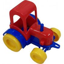 tractor junior 8 cm multicolor geel/rood