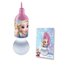 treklamp Frozen led meisjes 17 cm roze