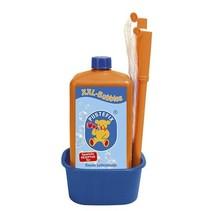 bellenblaas XXL met 1 liter vloeistof oranje/blauw