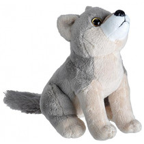 knuffel wolf 20 cm pluche grijs/taupe