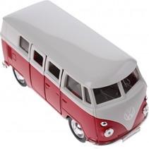metalen Volkswagen bus rood 11,5 cm