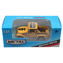 jeep Off Road jongens 13 cm die-cast geel/zwart