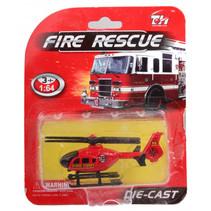 helikopter Fire Rescue jongens 14 cm die-cast rood