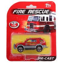 jeep Fire Rescue jongens 14 cm die-cast rood