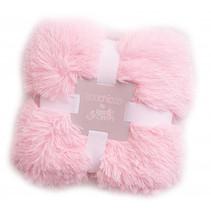 deken fluffy meisjes 90 cm pluche roze