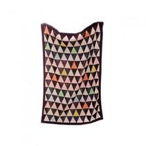 deken driehoek junior 140 cm katoen