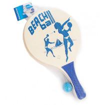 beachballset 38 x 24 cm hout blauw 3-delig