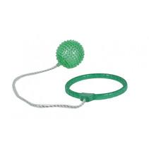 enkelspringbal met licht junior 40 cm groen