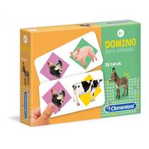 domino Boerderijdieren junior 20 cm karton 28 kaarten