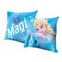 kussen Frozen meisjes 40 x 40 cm polyester blauw