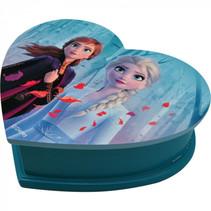 sieradenkistje Frozen II meisjes hout 35 cm blauw