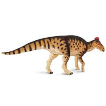 dinosaurus Edmontosaurus junior 26 cm rubber bruin/rood