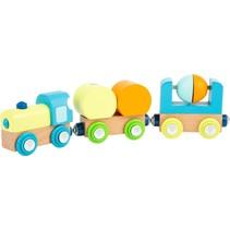 speelgoedtrein junior hout 21 cm 5-delig
