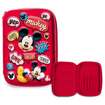 etui Mickey Mouse junior 14 x 21 cm polyester/EVA rood