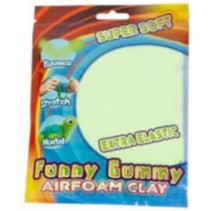 klei Gummy Airfoam junior 55 gram lichtgroen