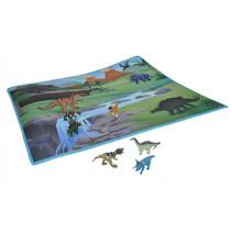 speelmat dino junior 37 x 87.5 cm textiel groen