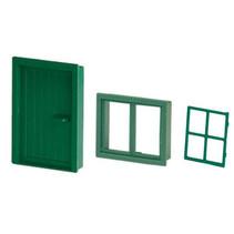 deur en vensterramen junior hout groen 3-delig