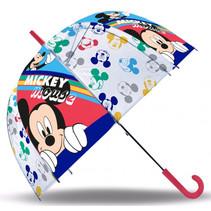 paraplu Mickey Mouse junior 45 cm PVC wit/blauw/rood