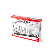 knikkerachtbaan Spacerail 60 meter staal zwart/wit