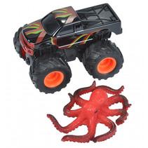 speelset truck en octopus junior zwart/rood 2-delig