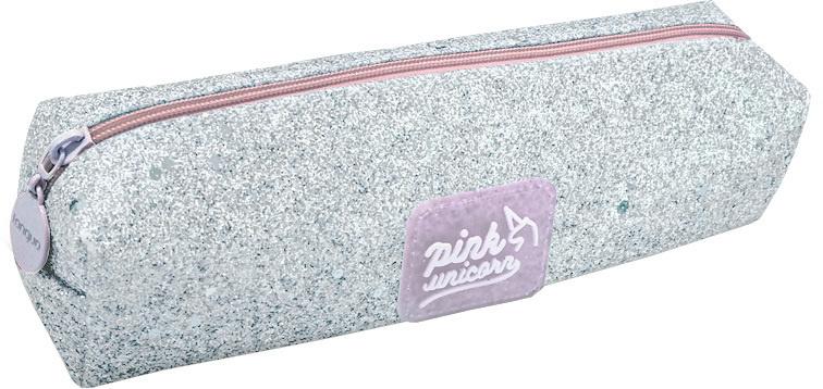 Unicorn etui Bling Bling 20 x 4,5 cm glitter/polyester zilver