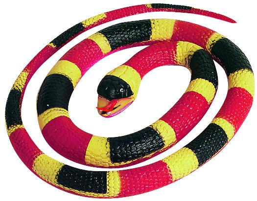 Wild Republic speeldier slang junior 66 cm rubber rood/zwart/geel