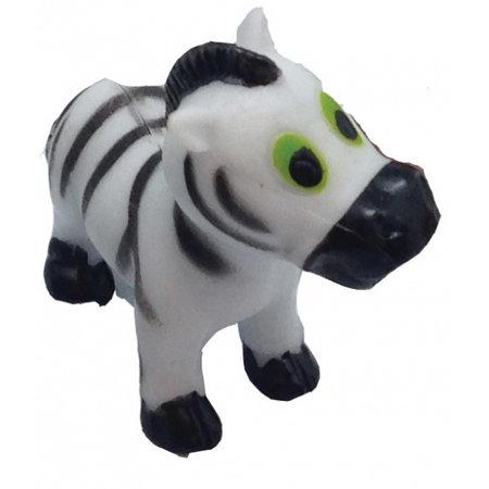 Wild Republic speeldier zebra junior 6 cm wit/zwart