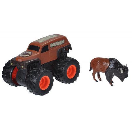 Wild Republic speelset truck en bison junior zwart/bruin 2-delig