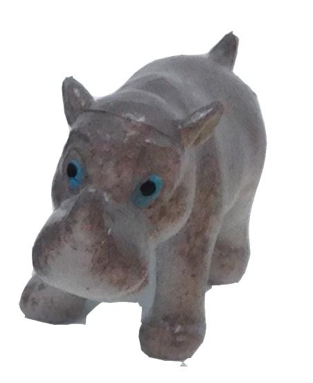 Wild Republic speeldier neushoorn junior 6 cm grijs