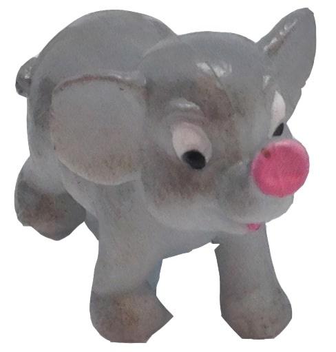 Wild Republic speeldier olifant junior 6 cm grijs