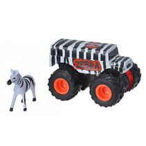 speelset truck en zebra junior wit/zwart 2-delig