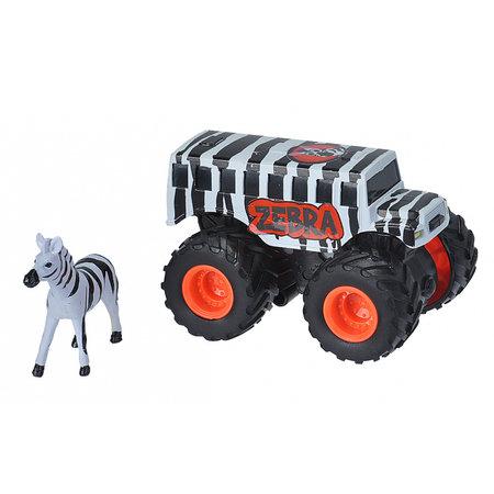 Wild Republic speelset truck en zebra junior wit/zwart 2-delig