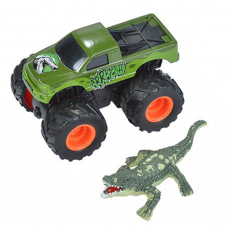 Wild Republic speelset truck en krokodil junior groen 2-delig