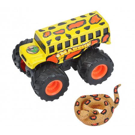 Wild Republic speelset truck en slang junior zwart/geel 2-delig