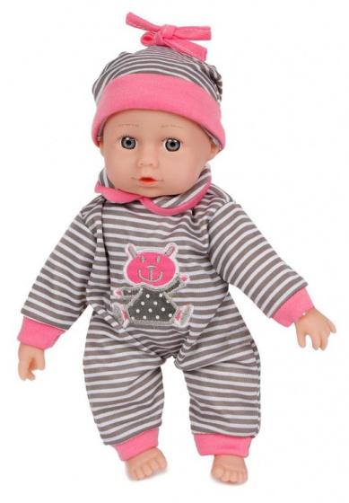 Van Manen babypop meisjes 26 cm grijs