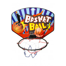 basketbalring junior 21 x 28 cm blauw/rood 2-delig