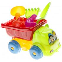 strandspeelgoed vrachtwagen junior 15 cm 6-delig